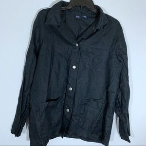 Gap Women's Black Front Pocket Jacket Size Large